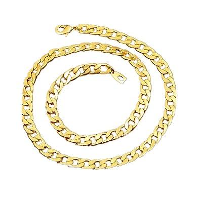 2ec0dd66c749 BoomYou Collar de cadena de oro falso
