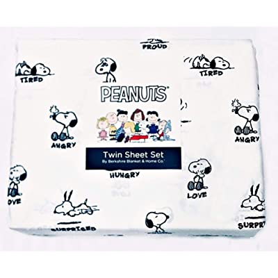 Berk shire Peanuts Snoopy and His Many Moods Twin Sheet Set Summer: Kitchen & Dining