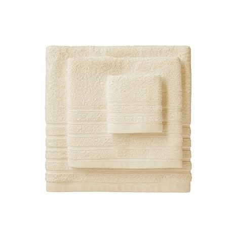 Barceló Hogar 05040010002 Juego de 3 toallas para bidé, lavabo y ducha, modelo Diamante