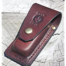 leatherman multitool Surge 300 brown leather sheath heavy duty and handmade by seller (brown)