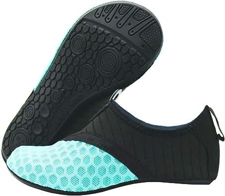 VEFSU Womens Mens Water Shoes Barefoot Quick-Dry Aqua Socks Beach Swim Surf Exercise