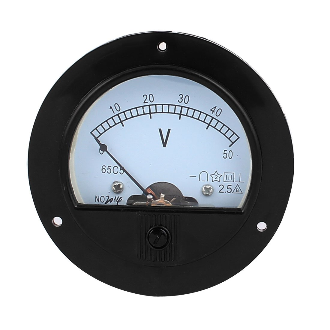 Uxcell a15102300ux0530 DC 50V Analog Panel Measuring Gauge Class 2.5 Voltage Meter Voltmeter