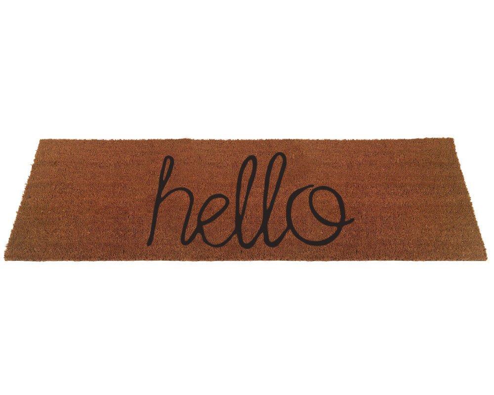 Extra Large Hello Script Coir Doormat