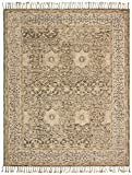 Stone & Beam Kelsea Transitional Wool Area Rug, 4' x 6', Beige and Grey