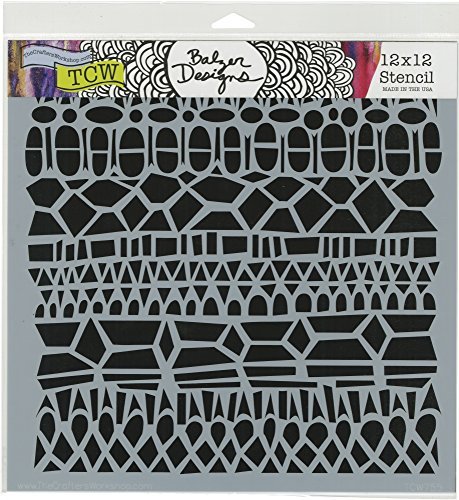 The Crafter's Workshop TCW755 12'' x 12'' Modern Lace Template, Multicolor by The Crafter's Workshop