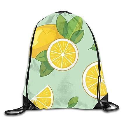 d45b390cdd28 Amazon.com   Drawstring Bag Cartoon Lemon Womens Gym Backpack ...