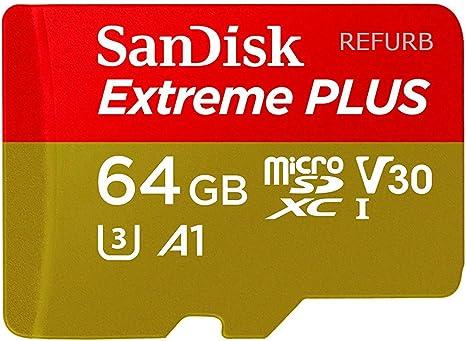 Amazon.com: SanDisk Extreme Plus 64GB microSDXC UHS-I U3 V30 ...