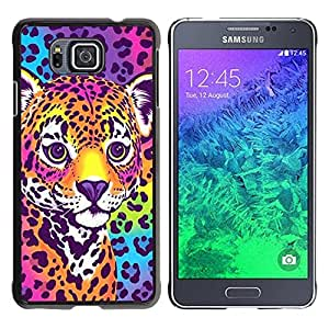 - Cheetah Panther Blue Electric Fur Colors - - Monedero pared Design Premium cuero del tir???¡¯???€????€??????????&fn