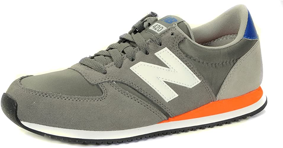 basket new balance gris orange