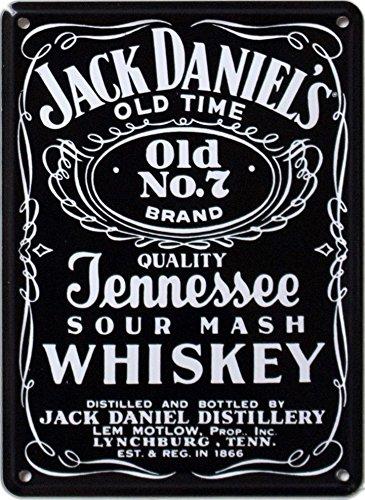 JACK DANIELS BLACK LABEL Small Vintage Tin Metal Pub Sign: Amazon.co ...