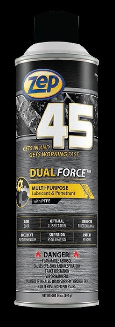 CASE OF 12 ZEP 45 DUAL FORCE MULTI-PURPOSE LUBRICANT & PENETRANT by Zep