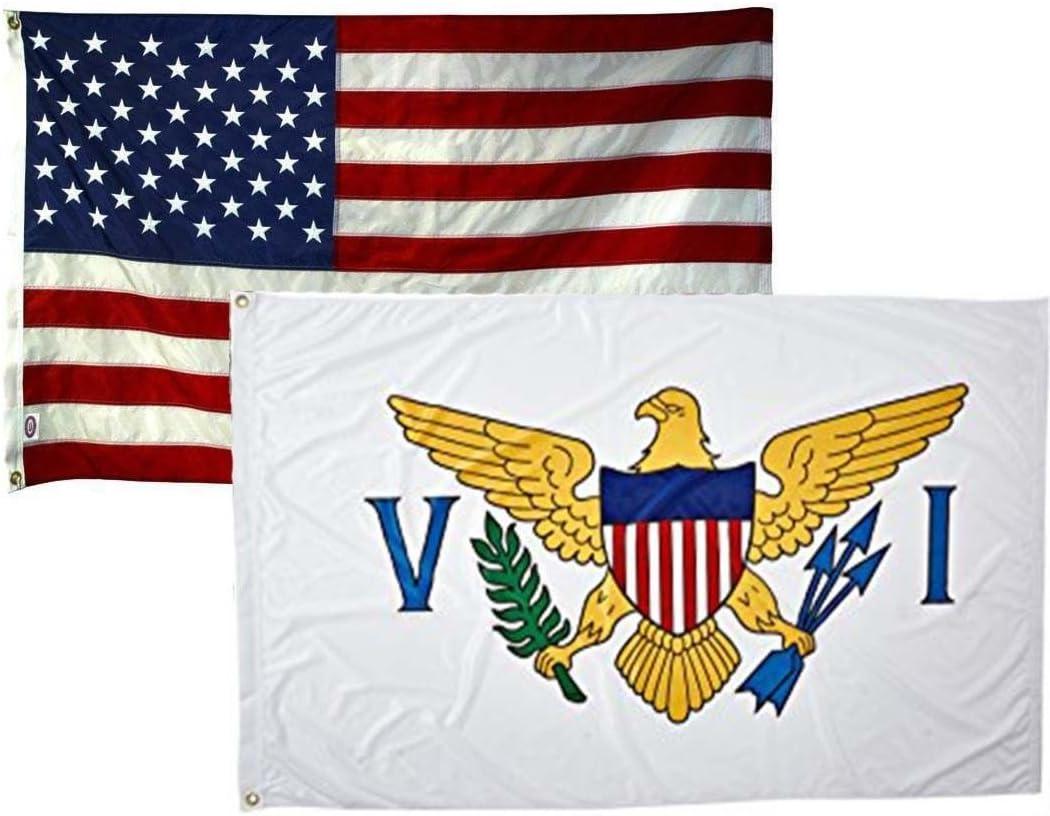2x3 U.S Virgin Islands Flag 2/'x3/' House Banner grommets super polyester