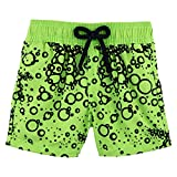 Vilebrequin - Flocked Bubbles Turtles Boy Swimwear  - Boys - 12 years - Wasabi