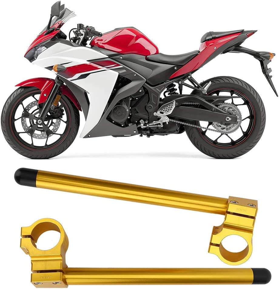 41mm Universal Aluminum Gold Motorcycle Clip-on Handlebars Modified Separation Handle Accessory