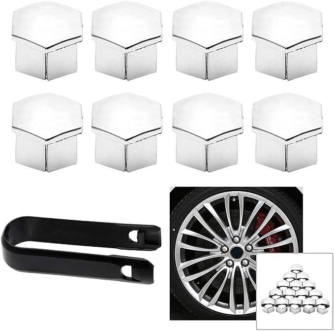 16PCS Car Wheel Nut Caps For Citroen C4l C5 C2 for Peugeot 207 301 307 308 408 508 3008 Auto Hub Screw Cover Car-styling - (Color Name: Silver) - - Amazon.com
