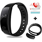 Besteker Smart Bracelet Fitness Tracker Sport Wristband Bluetooth IP 67 Waterproof Touch Screen Smart Band for iPhone Android Smartphone