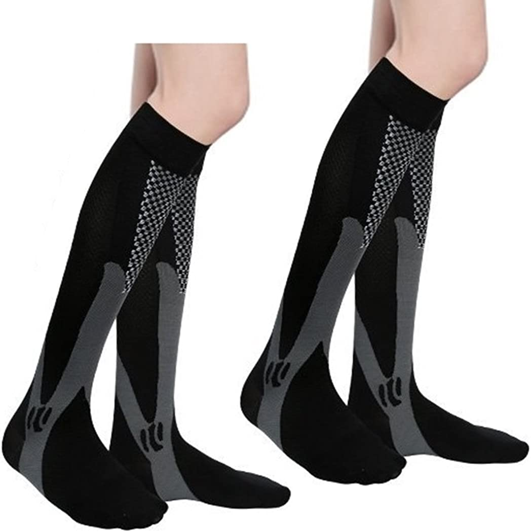 2//7 Pairs Compression Socks Women Men 20-30 mmHg Graduated Athletic Sports Socks