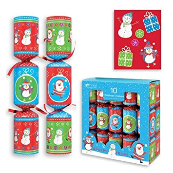 Christmas Cracker Toys.Christmas Crackers Assorted Designs 20cm Pack Of 10