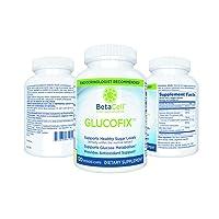 Glucofix Blood Sugar Support Supplement - 120 Vege Caps- 6 Vital Nutrients for Better...