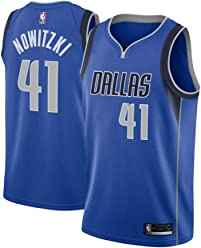 37c87d10aadc Majestic Athletic Men s Dallas Mavericks  41 Dirk Nowitzki Royal Swingman  Jersey-Blue (M
