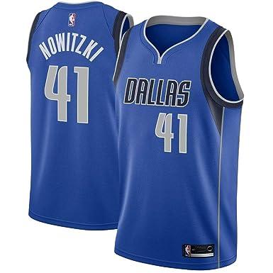 ee22be08bd1 Majestic Athletic Men s Dallas Mavericks  41 Dirk Nowitzki Royal Swingman  Jersey-Blue (S