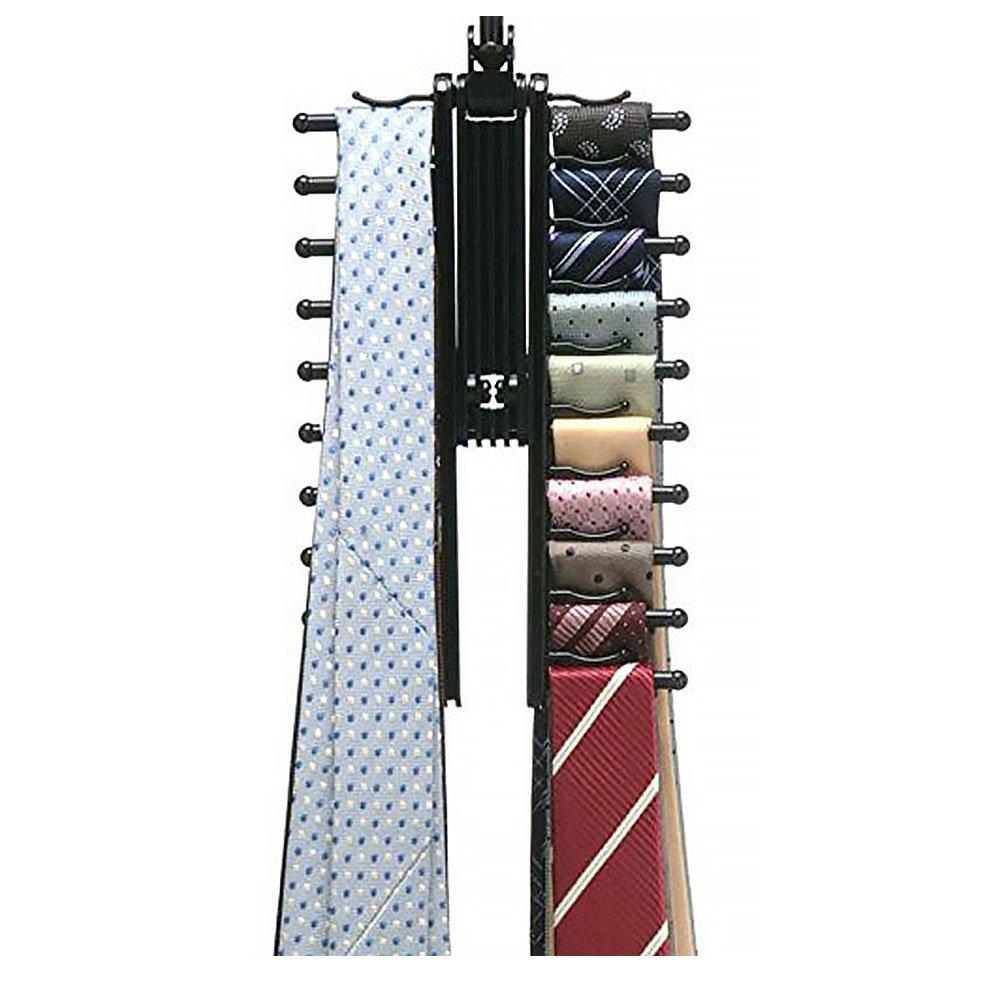 Cravate Cintre cravate Ceinture Rack Organisateur Cintre free size Noir r/églable rotatif /à 360//° dansante Tie Rack pour hommes