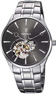 959366b451f7 Festina Reloj Esqueleto para Hombre de Cuarzo con Correa en Cuero ...