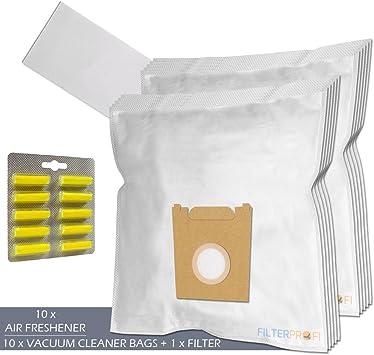 SET - Ambientadores + Filtro + 10 Bolsas de aspiradora Para UFESA Ciceris 1800: Amazon.es: Electrónica