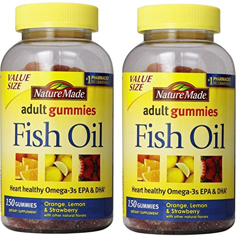 Nature Made Fish Oil Adult Gummies Nutritional Supplements, Value Size, 150 Count(Pack of 2) For Sale
