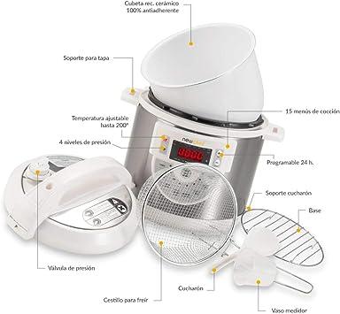 NEWCOOK Olla Programable Newcook Delicious Blanca, Olla a Presión ...