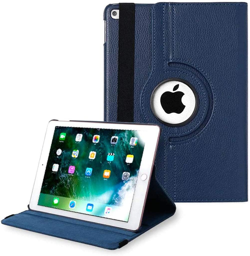 iPad Case for iPad 9.7 2018 2017 / iPad Air 2 / iPad Air - 360 Degree Rotating Stand Protective Cover with Auto Sleep Wake for iPad 9.7 inch (6th Gen, 5th Gen) / iPad Air 2 / iPad Air (Navy)