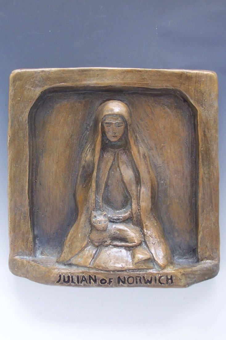 Julian of Norwich, Patron of Cats, All Shall Be Well, Handmade Statue All Shall Be Well  Handmade Statue