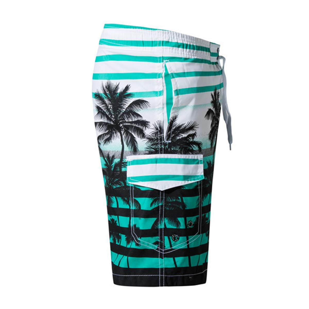 DINGQU Mens Short Swim Trunks Best Board Shorts for Sports Running Swimming Beach Surfing Quick Dry Breathable Mesh Lining