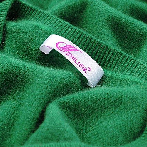 Zhili V Verde A Maglioni Cachemire 100 Donna axOar