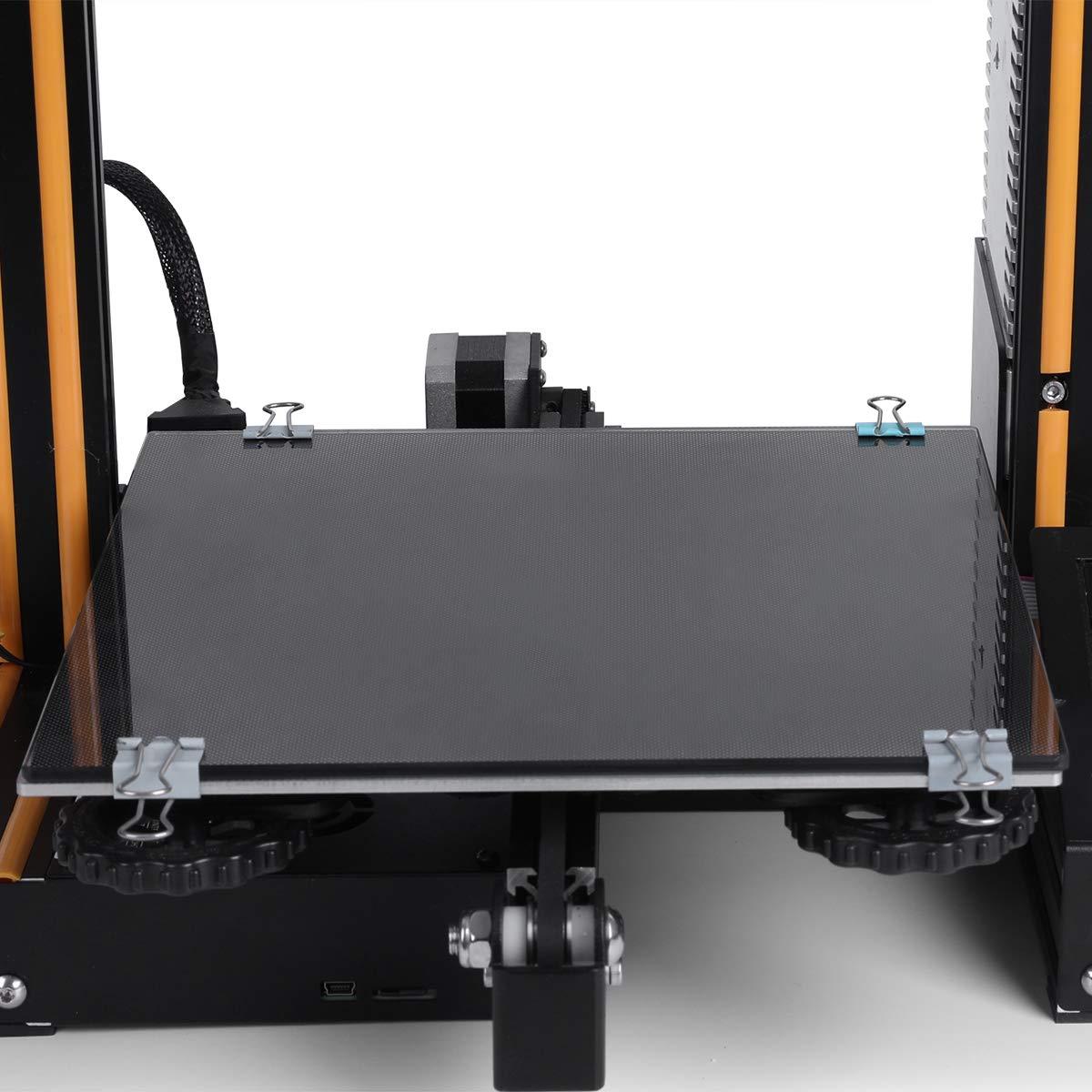 ELEGOO 3D Printer Hotbed Platform, Tempered Glass Plate Surface Heated Bed for Creality Ender 3/Ender 3 Pro Black 235mmx235mmx3mm