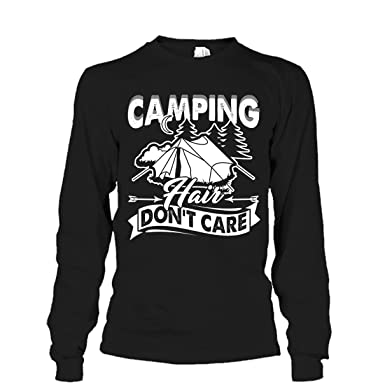 Mazoli Camping Cool T Shirt Design Camping Hair Don T Care Tee