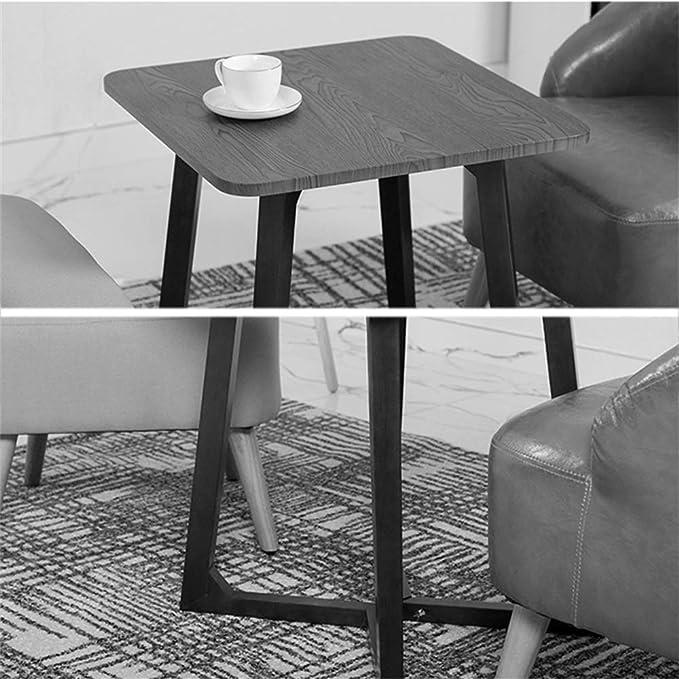 Amazon.com: Mesa cuadrada de madera maciza pequeña mesa de ...