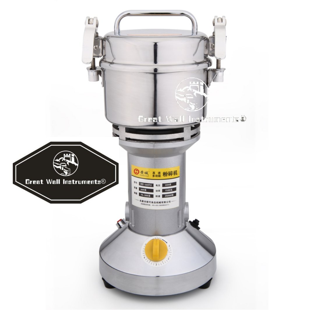 300g Electric Grain Mill Spice Herb Grinder Pulverizer super fine powder machine For Spice herbs grains coffee rice, corn, sesame, soybean, fish feed, pepper, medicine