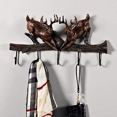 BAIF Capa de Rack_Wall-Mounted con 5 Ganchos de Metal ...