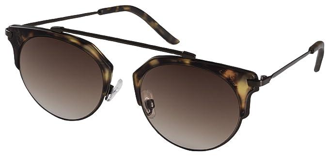 Womens Kinsley_PI: Gold Plated Sunglasses, Black, 50 Pilgrim