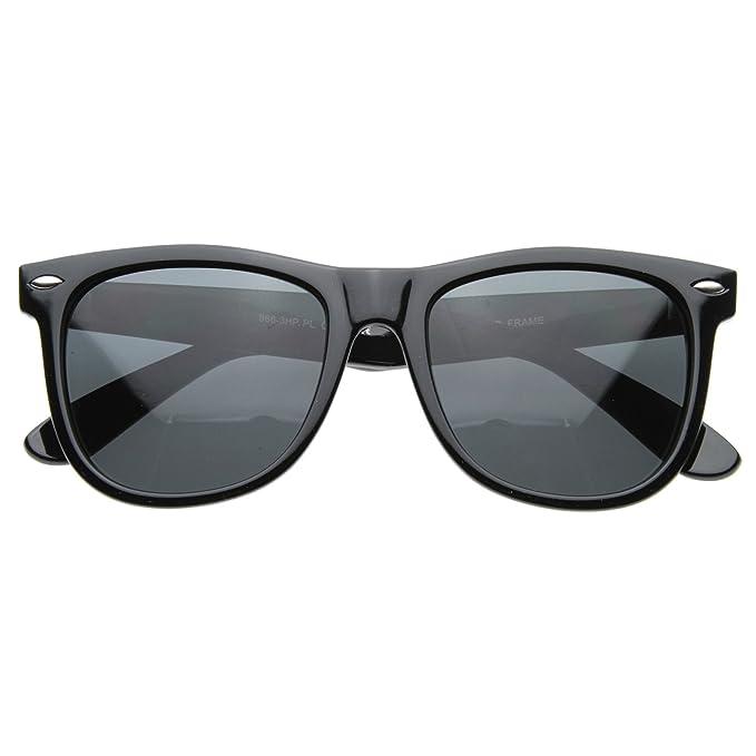 MLC Gafas de sol polarizadas estilo retro, estilo vintage, color negro carbón