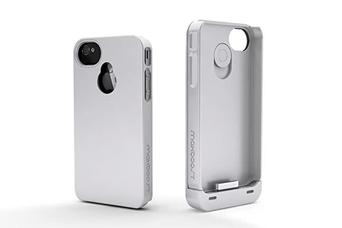 Maxboost iPhone 4S Battery Case/iPhone 4 Battery Case (1900mAH, Fits all versions of Apple iPhone 4 & 4S) - Detachable Battery Charger Case External ...