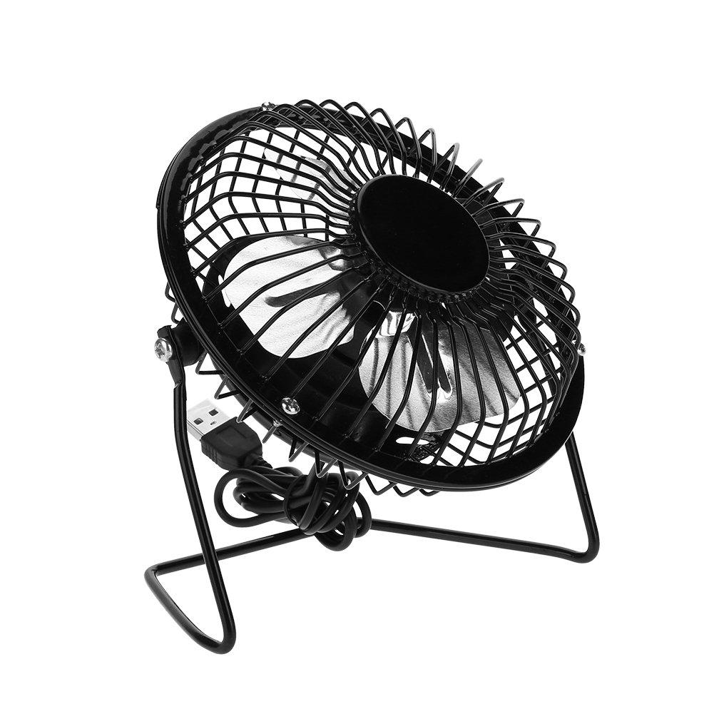 Dilwe USB Mini Fan, 3W 6V Outdoor Solar Panel Portable Mini USB Cooling Fan Kit Accessory