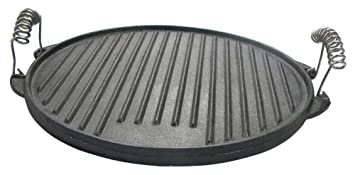 Reversible de pizza placa plancha Hierro Fundido Parrilla ...