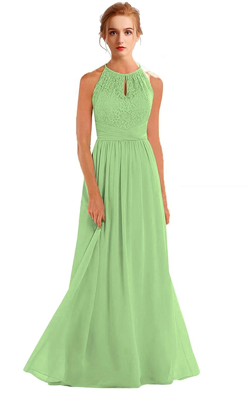 Matcha VaniaDress Women Halter Sleeveless Long Evening Dress Formal Gowns V266LF
