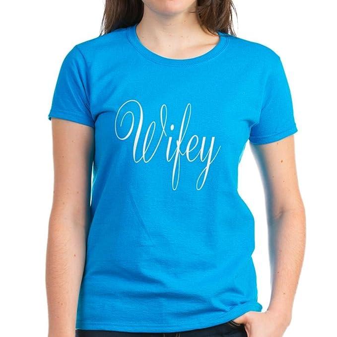 09d765db Amazon.com: CafePress - Wifey Shirt T-Shirt - Womens Cotton T-Shirt ...