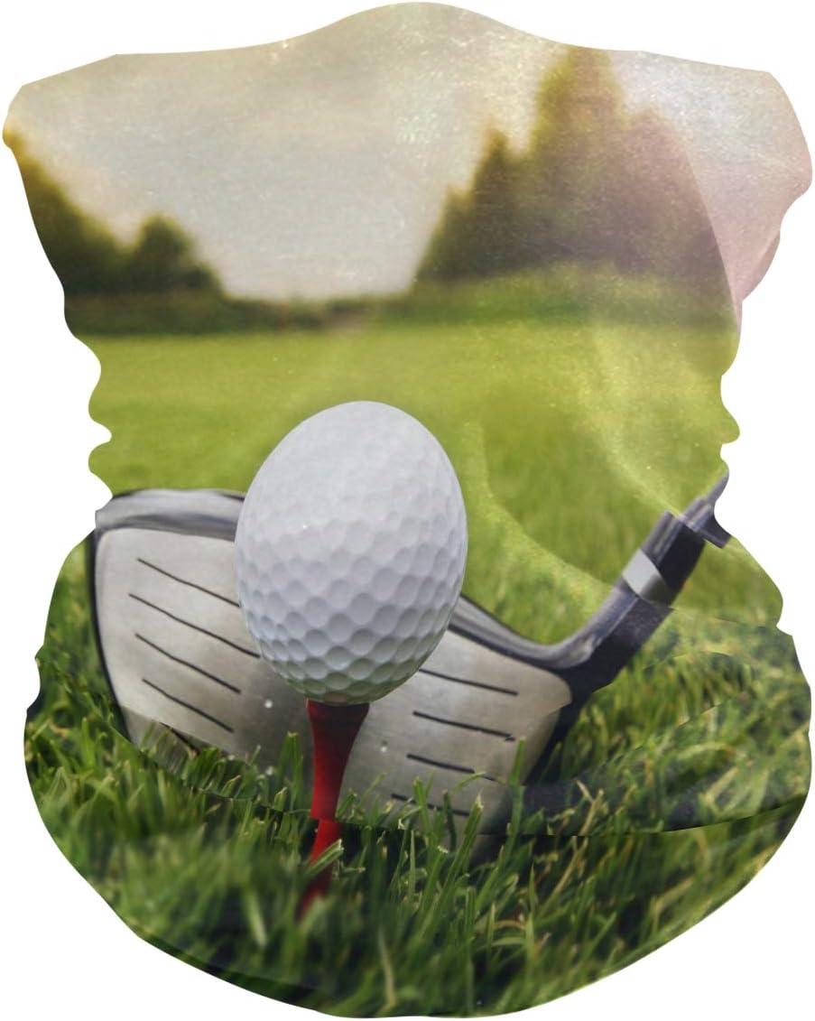 BETTKEN Soft Headscarf Sport Golf Ball Grass Club Breathable Bandana Face Dust Sun Protection Mask Neckerchief Gaiters Balaclava Headband for Girls Boys