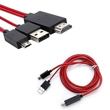 Cable de teléfono a TV, MHL Micro USB a HDMI 1080P HD TV Cable ...