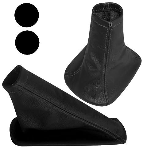 AERZETIX: Funda para palanca de cambios y freno de mano 100% Piel genuina negro