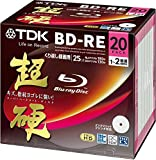 TDK Blu-ray BD-RE Re-writable Disk 25GB 2x Speed 20 Pack | Blu-ray Disc Rewritable Format Ver. 2.1 | Super Hard Coating Surface (Japan Import)